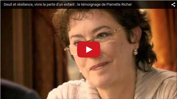 Témoignage d'une mère en deuil : Pierrette Richer à Vivre son deuil Suisse