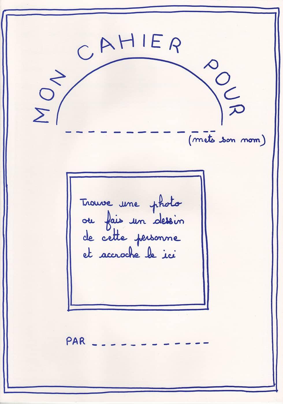 Mon cahier pour : cahier pour enfants proposé par l'association Vivre son Deuil