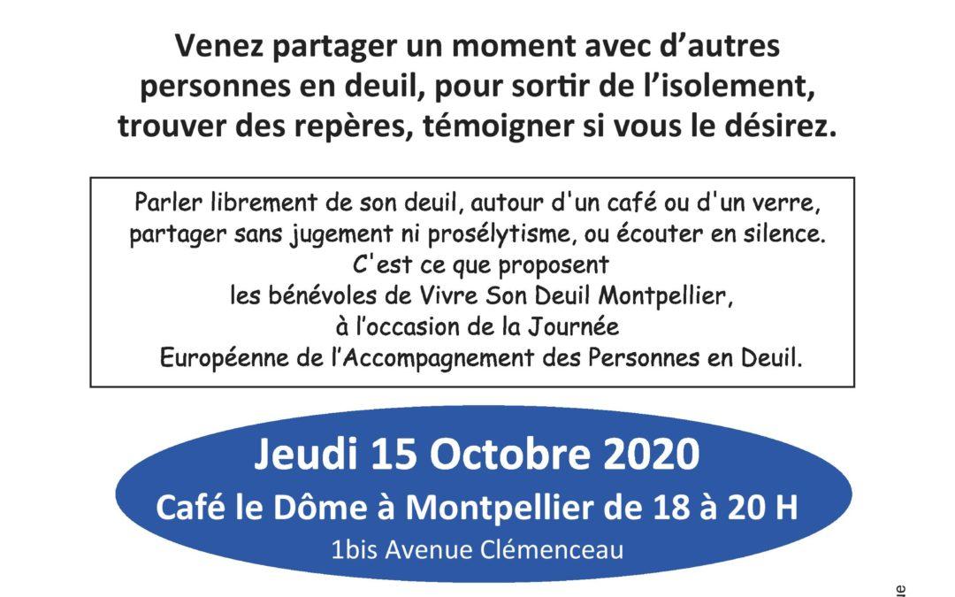 Montpellier: actions pour la journée européenne de l'accompagnement des personnes en deuil