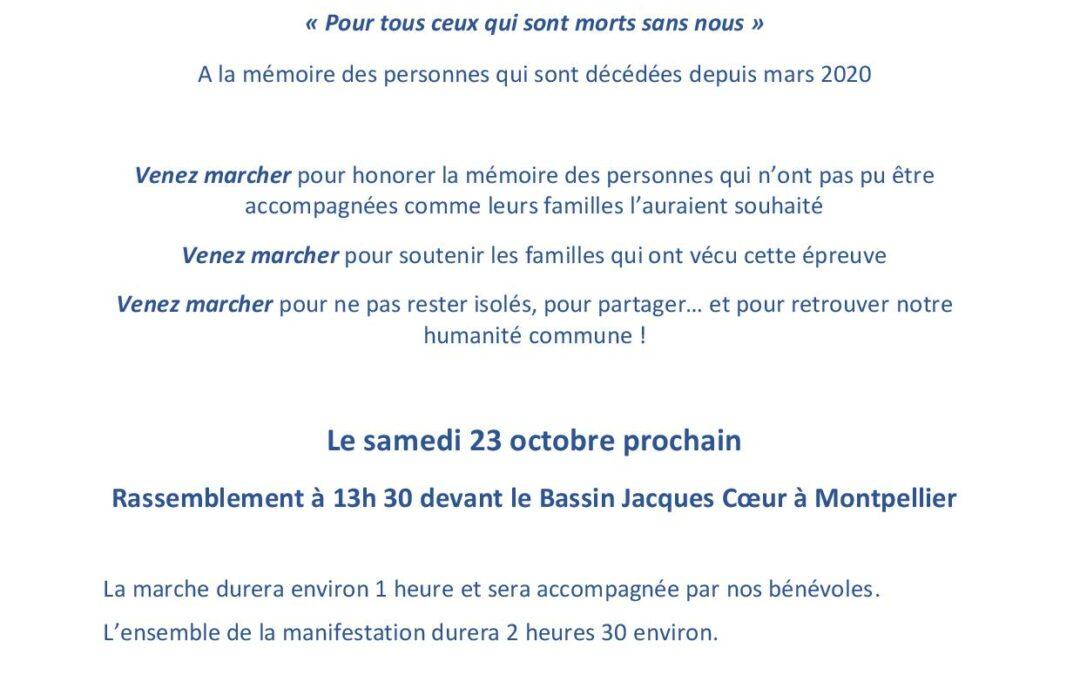 Marche Blanche Montpellier le 23 octobre 2021
